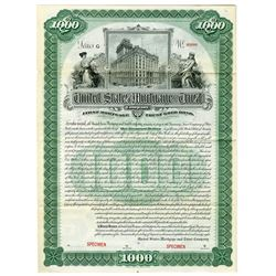 United States Mortgage & Trust Co., 1898 Specimen Bond