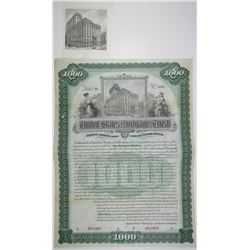 United States Mortgage & Trust Co. Specimen Bond & Matching Proof Vignette