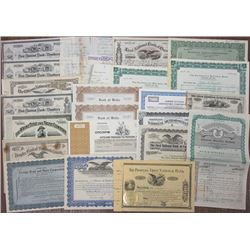 Financial and Bank Related Issued Stock & Bond Certificates, 1862-1957