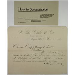 "Lewis & May ""How to Speculate"" Booklet, ca. 1882"