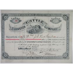 Evanston Cattle Co. 1902 I/U Stock Certificate