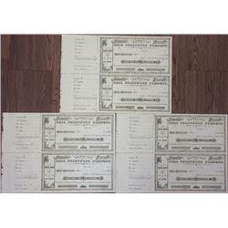 Hawaii Bell Telephone Co., ca.1880s U/U Trio of Uncut Pairs of Stock Certificates