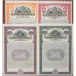 New Orleans Public Service Inc., 1922 Specimen Bond Quartet