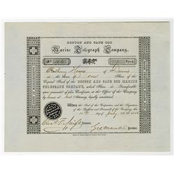 Boston and Cape Cod Marine Telegraph Co. 1856 Issued Stock Certificate