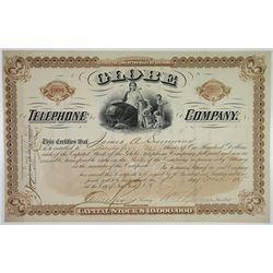 Globe Telephone Co. 1885 I/U Stock Certificate