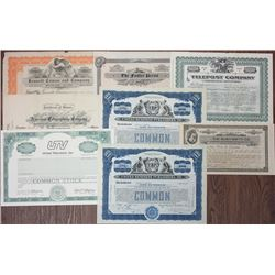 Communications Related I/U & Specimen Stock Certificates, 1892-1987