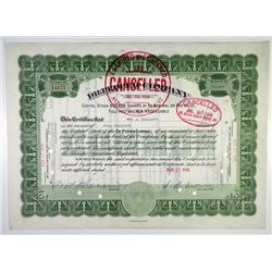 Dr. Pepper Co. 1936 Stock Certificate