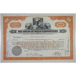Cream of Wheat Corp. 1958 I/C Stock Certificate
