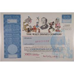 Walt Disney Co., 1986 Specimen Stock Certificate