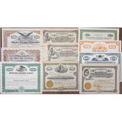 Entertainment Stock Certificate Assortment, ca.1900-1970