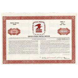 United States Postal Service 1972 Specimen Bond.
