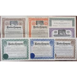 Bartica Company group of I/U Stocks and Bonds, 1910-1921
