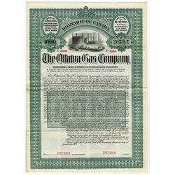 The Ottawa Gas & Electric Co. 1904 Specimen Bond.