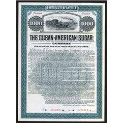 Cuban-American Sugar Co., Specimen Bond.