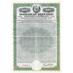 Dominican Republic, 1913 Specimen Bond