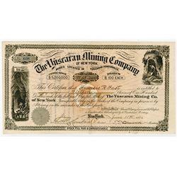 Yuscaran Mining Co., 1886 I/U Stock Certificate