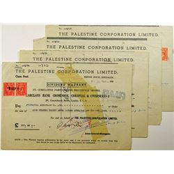 Palestine Corp. Ltd., 1948, Group of Dividend Warrants