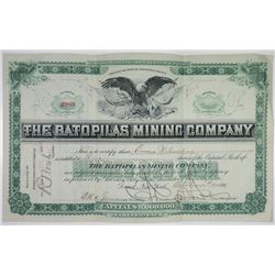 Bato Pilas Mining Co. 1905 I/U Stock Certificate