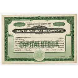 Central Mexican Oil Co. 1920's. Proof Stock Certificate.