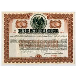 Compania Metalurgica Mexicana. 1901. Specimen Registered Bond.