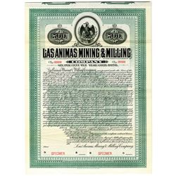 Las Animas Mining & Milling Co. 1905 Specimen Bond