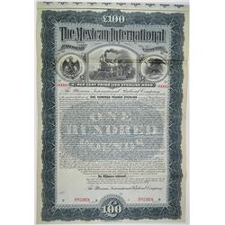 Mexican International Railroad Co. 1897 Specimen Bond