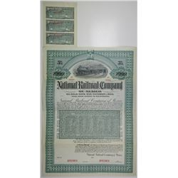 National Railroad Co. of Mexico 1903 Specimen Bond