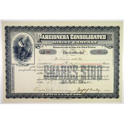 Parcionera Consolidated Mining Co. 1903 Stock Certificate