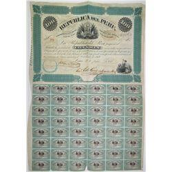 Republica del Peru, 1871, I/U Bond