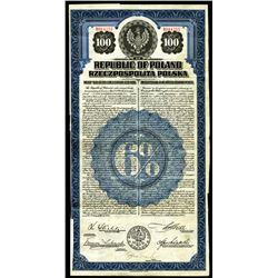 Republic of Poland, 1920 I/U Gold Dollar Bond.