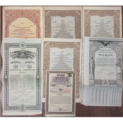 Collection of Western Europe Issued Bonds, 1913-1928