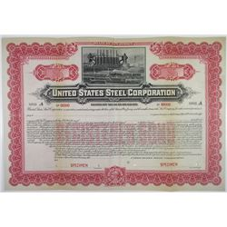 United States Steel Corp. 1901 Historic First Issue Registered Specimen Bond