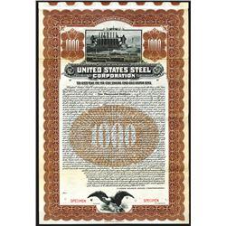 United States Steel Corp., 1903, $1000 Specimen Bond.