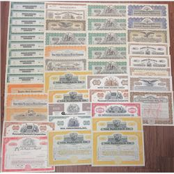 Industrial and Manufacturing Stock Certificate Grouping, ca.1880-1970's.