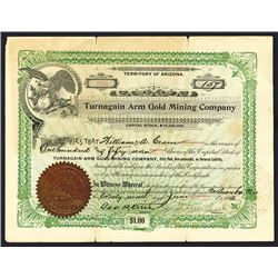 Turnagain Arm Gold Mining Co. 1903 Alaska Stock Certificate.