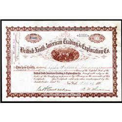 British North-American Trading & Exploration Co., 1898 Alaska-Yukon Related Stock.