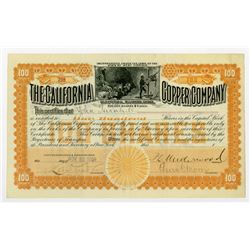 California Copper Co. 1899 I/U Stock Certificate