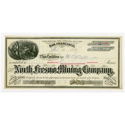 North Fresno Mining Co. 1880 I/U Stock Certificate