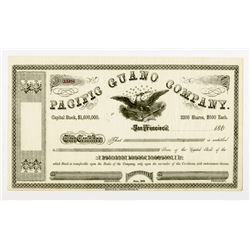 Pacific Guano Co. 1860s U/U Stock Certificate