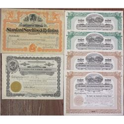 Canada & U.S. Stock Certificate 1907 to 1984 Group of 11 Stock Certificates