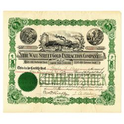 Wall Street Gold Extraction Co., 1901, I/U Stock Certificate.