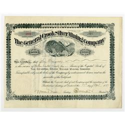 General Crook Silver Mining Co. 1897 Stock Certificate