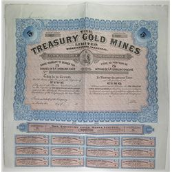 Treasury Gold Mines Ltd., 1910 Specimen Stock Certificate
