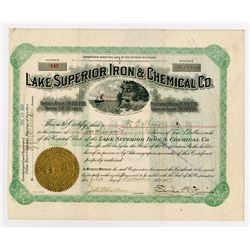 Lake Superior Iron and Chemical Co., 1904 Stock Certificate.
