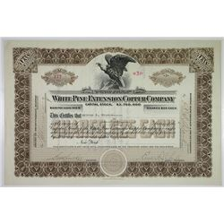 White Pine Extension Copper Co. 1918 I/U Stock Certificate