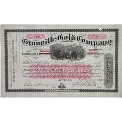 Granville Gold Co., 1879 I/U Stock Certificate