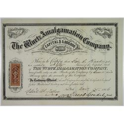 Wurtz Amalgamation Co., 1866 I/U Stock Certificate