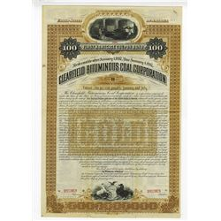 Clearfield Bituminous Coal Corp., 1887 Specimen Bond