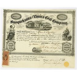 Susquehanna and Elmira Coal Co. 1856 Stock Certificate