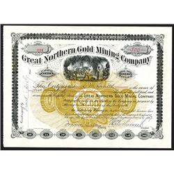 Great Northern Gold Mining Co., 1897 Stock Certificate